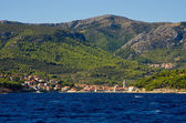 Jelsa town on Hvar island, Croatia — Foto Stock