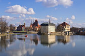 On the islands in Wroclaw, Poland — Stock Photo