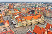 Old town square in Wroclaw, Poland — Stock Photo