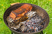 Spare ribs baked on BBQ — Stock Photo