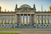 German Reichstag building during the sunrise, Berlin, Germany — Stock Photo