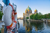 Berliner Dom over the Spree river, Germany — Stock Photo