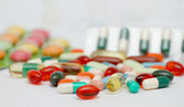 Lot of medicines — Stock Photo