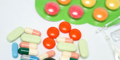 Closeup of Pills — Foto Stock