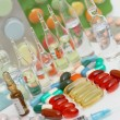 Stock Photo: Lot of medicines