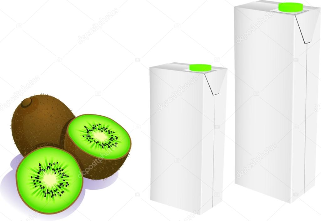 Vector illustration of isolated juice carton boxes — Stockvectorbeeld #14942193