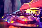 Dj mixing — Stock Photo