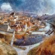 Panorama of Chesky Krumlov — Stock Photo