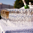 Champagne Glasses on the table — 图库照片
