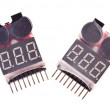Two RC Voltage Lipo Battery Meter Indicator — Stock Photo
