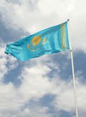 The State Flag of Kazakhstan — Stock Photo