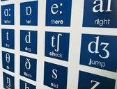 English alphabet phonetics — Foto de Stock