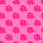 Abstrakte rosa sechsecke — Stockvektor
