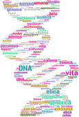 Elica di DNA tag cloud — Stock Photo