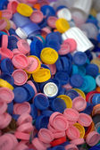 Plastic bottle caps — Stock Photo
