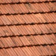 Red roof tiles background — Stock Photo #13260638