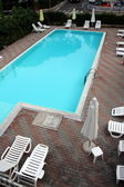 Desert swimming pool — Stock Photo