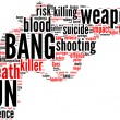 Gun silhouette word cloud — Stock Photo