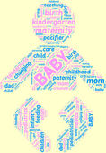 Newborn pictogram tagcloud — Stock Photo