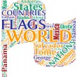 Nations flag tagcloud — Stock Photo