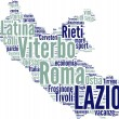 Lazio tagcloud - regioni di Italia — Stock Photo
