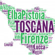 Toscana tagcloud - regioni di Italia — Stock Photo