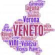 Veneto tag cloud - regioni di Italia — Stock Photo