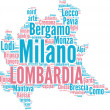 Lombardia tagcloud - regioni di Italia — Stock Photo