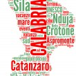 Calabria tagcloud - regioni di Italia — Stock Photo