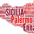 Sicilia tagcloud - regioni di Italia - Stock Photo