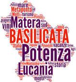 Basilicata tagcloud - regioni di Italia — Stock Photo