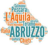 Abruzzo tagcloud - regioni di Italia — Stock Photo