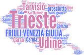 Friuli Venezia Giulia tagcloud - regioni di Italia — Stock Photo