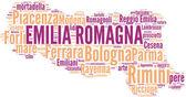 Emilia romagna tagcloud - regioni di italia — Stockfoto
