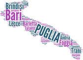 Puglia tagcloud - regioni di Italia — Stock Photo