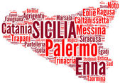 Sicilia tagcloud - regioni di Italia — Stock Photo