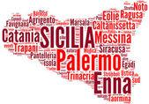 Tagcloud sicilia - regioni di italia — Foto Stock