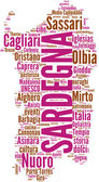 Sardegna tagcloud - regioni di Italia — Stock Photo