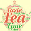 Stock Photo: Teapot tag cloud illustration