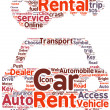 Stock Photo: Car rental pictogram tag cloud illustration