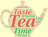 Teapot tag cloud illustration — Stock Photo