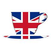UK flag tea mug — Stock Photo