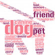 Dog and leash symbol tag cloud pictogram - Stock Photo