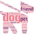 Dog and leash symbol tag cloud pictogram — Stock Photo