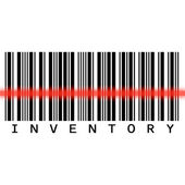 Barcode scanning for inventory — Stock Photo