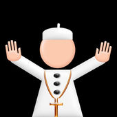 Pope puppet 3d — Stock Photo
