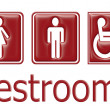 Restrooms sign - Stock Photo