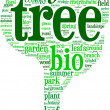 Stock Photo: Tree shaped tag cloud