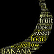 Banana tag cloud - Stock Photo