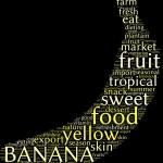 Banana tag cloud — Stock Photo